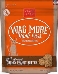 Cloud Star Wag More Bark Less Baked Peanut Butter 3 lb Product Image