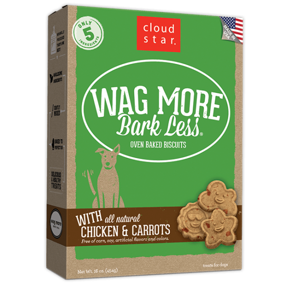 Cloud Star Wag More Bark Less Baked Chicken & Carrot 16 oz Product Image