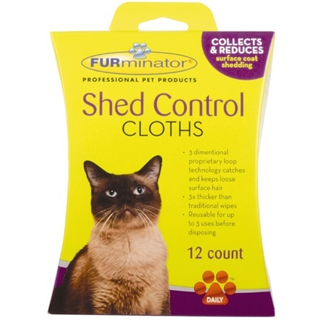 Furminator Furminator Cat Shed Control Cloths 12 Count Product Image