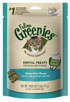 Greenies Feline Greenies Dental Treat Ocean Fish 2.5oz Product Image