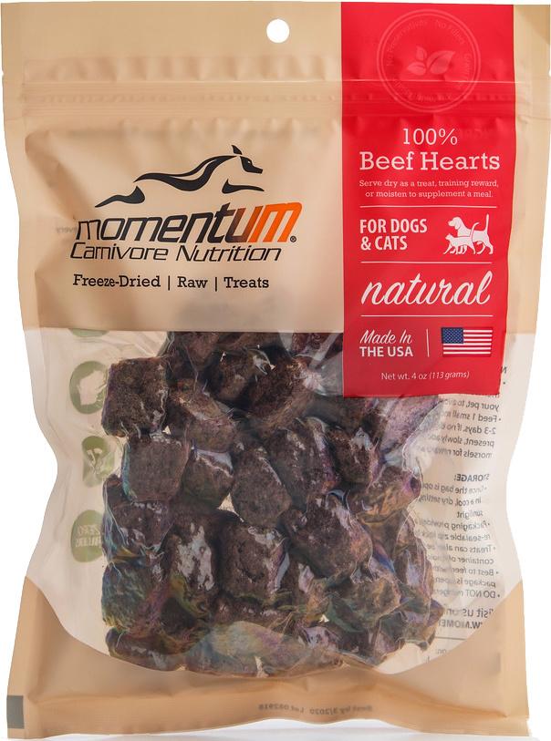 Momentum Momentum 100% Beef Heart Treats 4oz Product Image