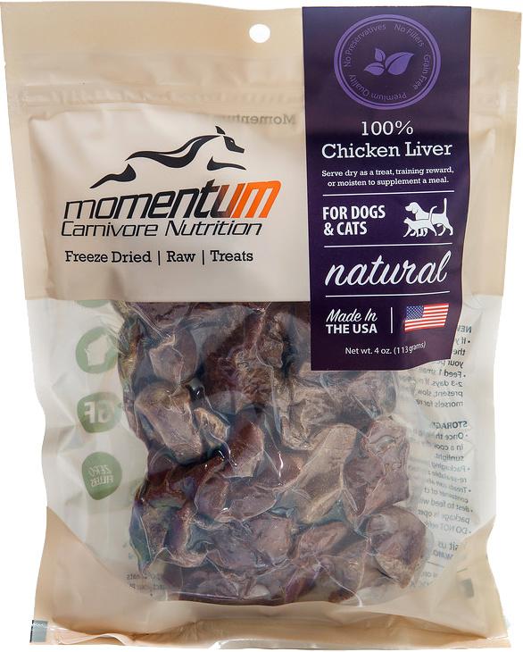 Momentum Momentum 100% Chicken Liver Treats 4oz Product Image