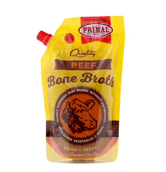 Primal Pet Foods Primal Frozen Bone Broth Beef 20 oz Product Image