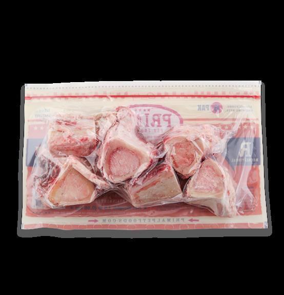 """Primal Pet Foods Primal Dog Frozen Bone Beef Marrow 2"""" 6 Count Product Image"""