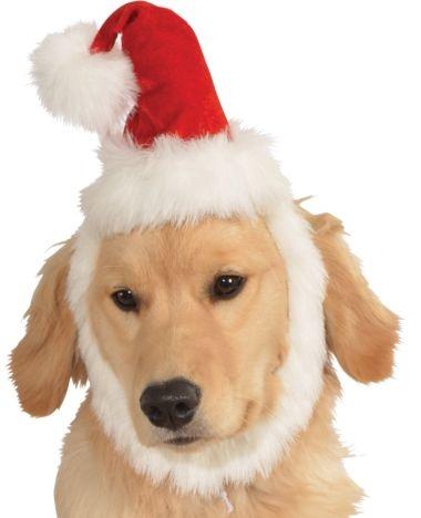 Rubies's Pet Shop Rubie's Pet Shop Santa Hat w/ Beard M/L Product Image