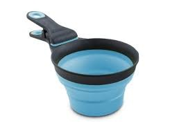 Dexas Dexas Popware Collapsible Klip Scoop 1/2 Cup Blue Product Image