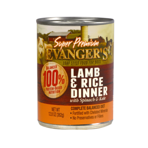 Evanger's Evanger's Super Premium Lamb & Rice with Spinach & Kale Dog Can 13oz Product Image