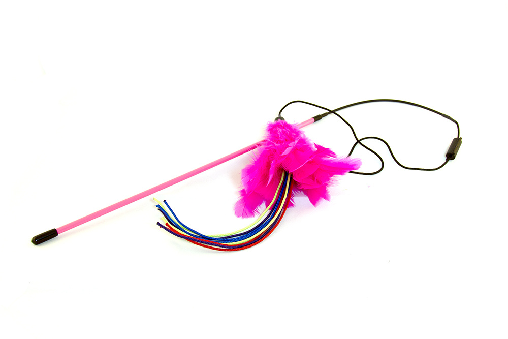Kung fu kitty Kung Fu Kitty Firecracker Feather Cat Toy Product Image