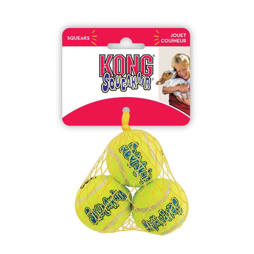 KONG Kong Squeaker Extra Small Tennis Balls 3 Pack Product Image