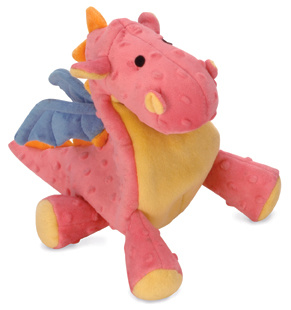 GoDog GoDog Pet Dragon with Chew Guard Coral Small Product Image