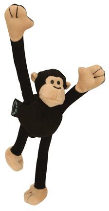 GoDog GoDog Crazy Tugz with Chew Guard Monkey Large Black Product Image