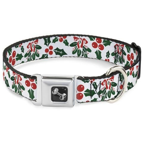 Buckle Down Buckle Down Holly and Mistletoe Collar Medium Product Image
