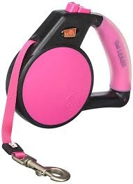 WIGZI Wigzi Gel Retractable Leash Pink Medium Product Image