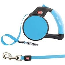WIGZI Wigzi Gel Retractable Leash Blue Large Product Image