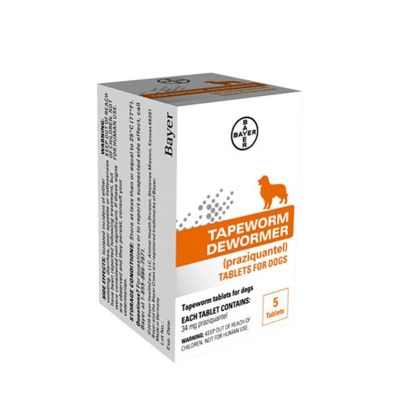 Bayer Healthcare Tapeworm Dewormer Dog 5ct Product Image