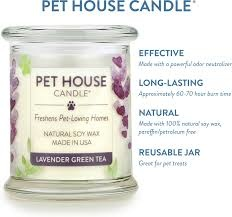 One Fur All Pets Pet House Candle Lavender Green Tea Product Image