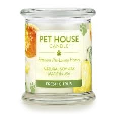 One Fur All Pets Pet House Candle Fresh Citrus Product Image