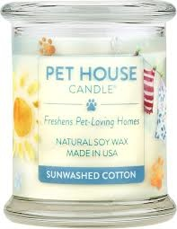 One Fur All Pets Pet House Candle Sun Washed Cotton Product Image