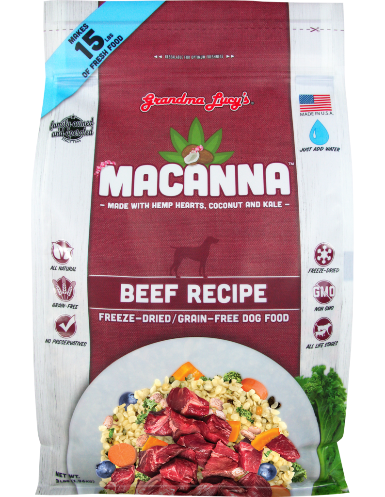 Grandma Lucy's Grandma Lucy's Dog Food Macanna Grain Free Beef 3lb Product Image