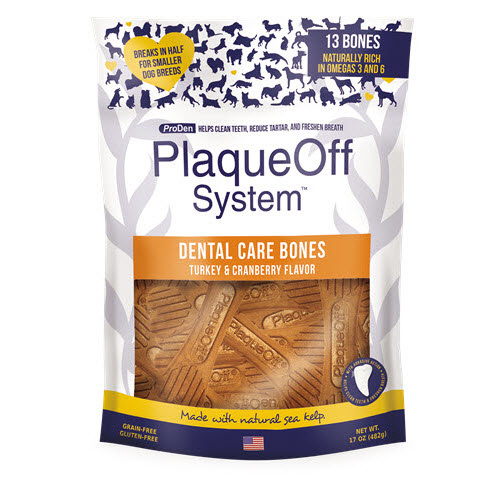 Plaqueoff Plaqueoff Dental Care Bones Turkey & Cranberry 17 oz Product Image