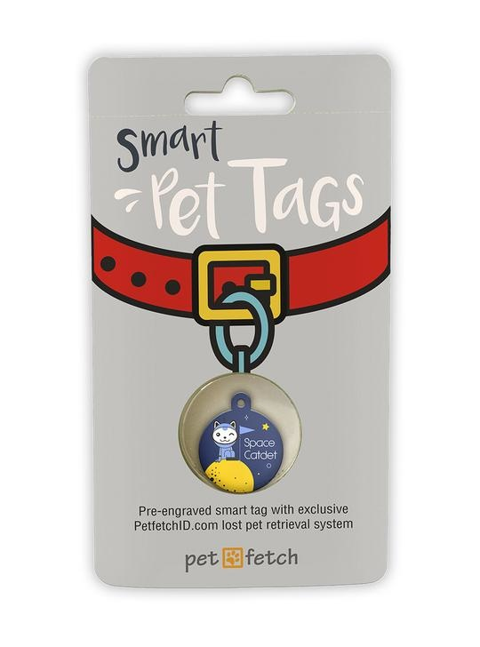 "KEYFETCH LLC Smart Pet Tags ""Space Catdet"" Product Image"