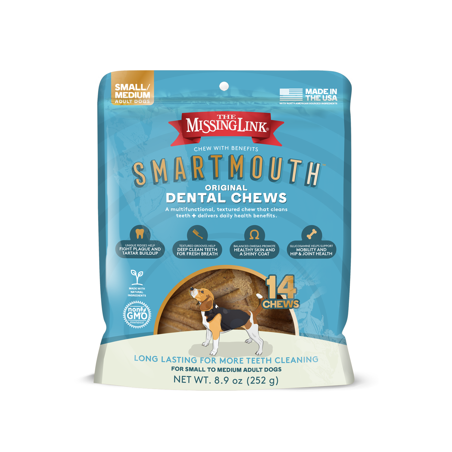 Missing Link Missing Link Smartmouth Dental Chew 14ct S/M Product Image