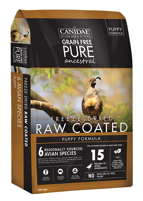 CANIDAE NATURAL PET Canidae Ancestral Raw Coated Puppy Avian 4lb Product Image