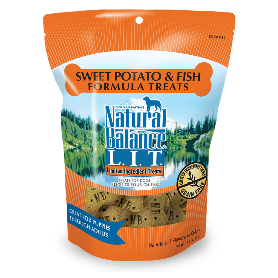 Natural Balance Natural Balance LIT Sweet Potato and Fish Treats 8oz Product Image
