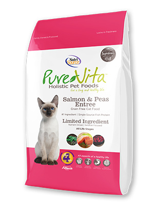 Nutrisource Pure Vita Cat Dry Grain Free Salmon 6.6 lb Product Image