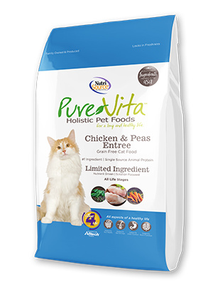 Nutrisource Pure Vita Cat Dry Grain Free Chicken & Peas 6.6lbs Product Image