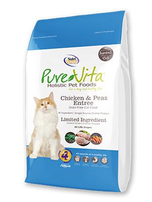 Nutrisource Pure Vita Cat Dry Grain Free Chicken & Peas 15lbs Product Image