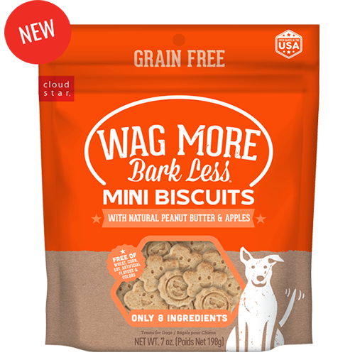 CLOUDSTR-WHITEBRIDGE PET Wag More Bark Less Mini Biscuits Peanut Butter and Apple Product Image