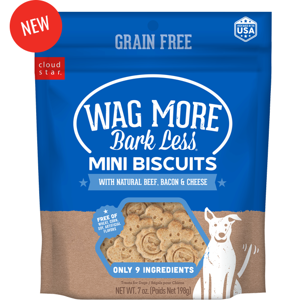 CLOUDSTR-WHITEBRIDGE PET Wag More Bark Less Mini Biscuit Beef Bacon Cheese 7 oz Product Image