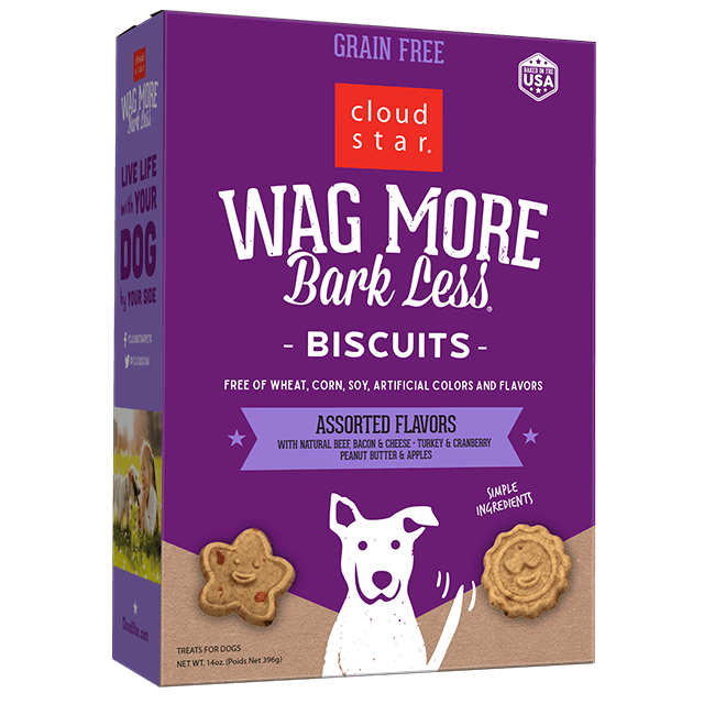 CLOUDSTR-WHITEBRIDGE PET Wag More Bark Less Baked Treat Assorted 14 oz Product Image