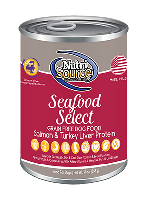 Nutrisource NutriSource Dog Can Grain Free Seafood Select 13 oz Product Image