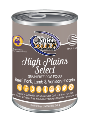Nutrisource NutriSource Dog Can Grain Free High Plains Select 13 oz Product Image