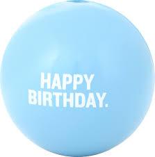 Planet Dog Orbee-Tuff Happy Birthday Ball Blue Product Image