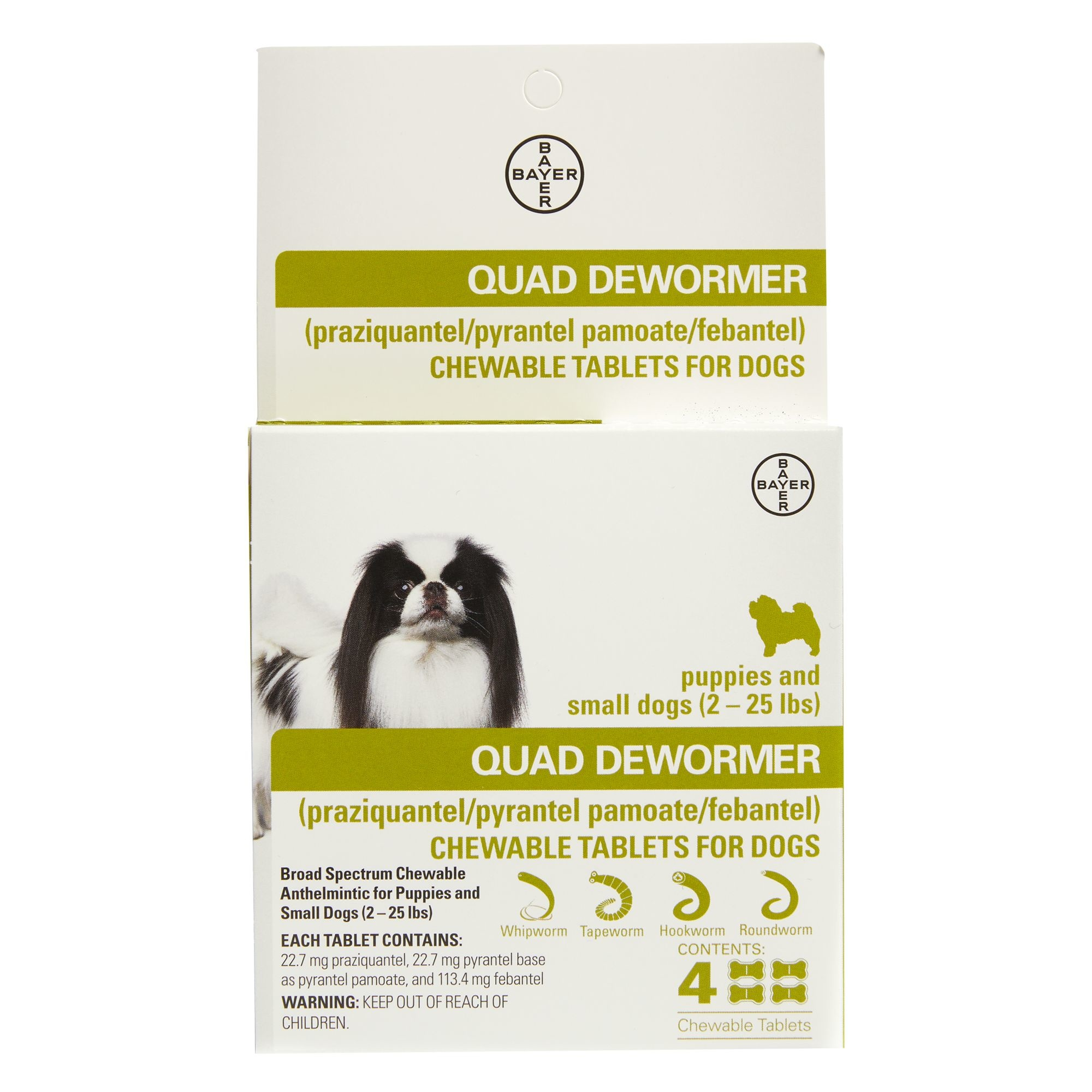 Bayer Healthcare QUAD Dewormer Small Dog 4pk 2-25lb Product Image