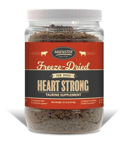 Muenster Milling Co. Muenster Freeze-Dried Heart Strong Beef Taurine Supplement 12oz Product Image