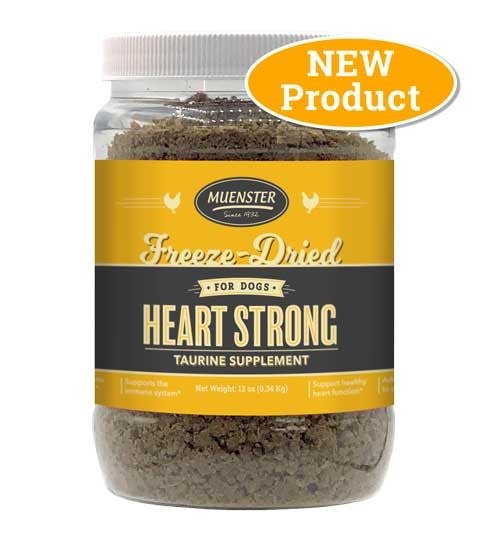 Muenster Milling Co. Muenster Freeze-Dried Heart Strong Chicken Taurine Supplement 12oz Product Image