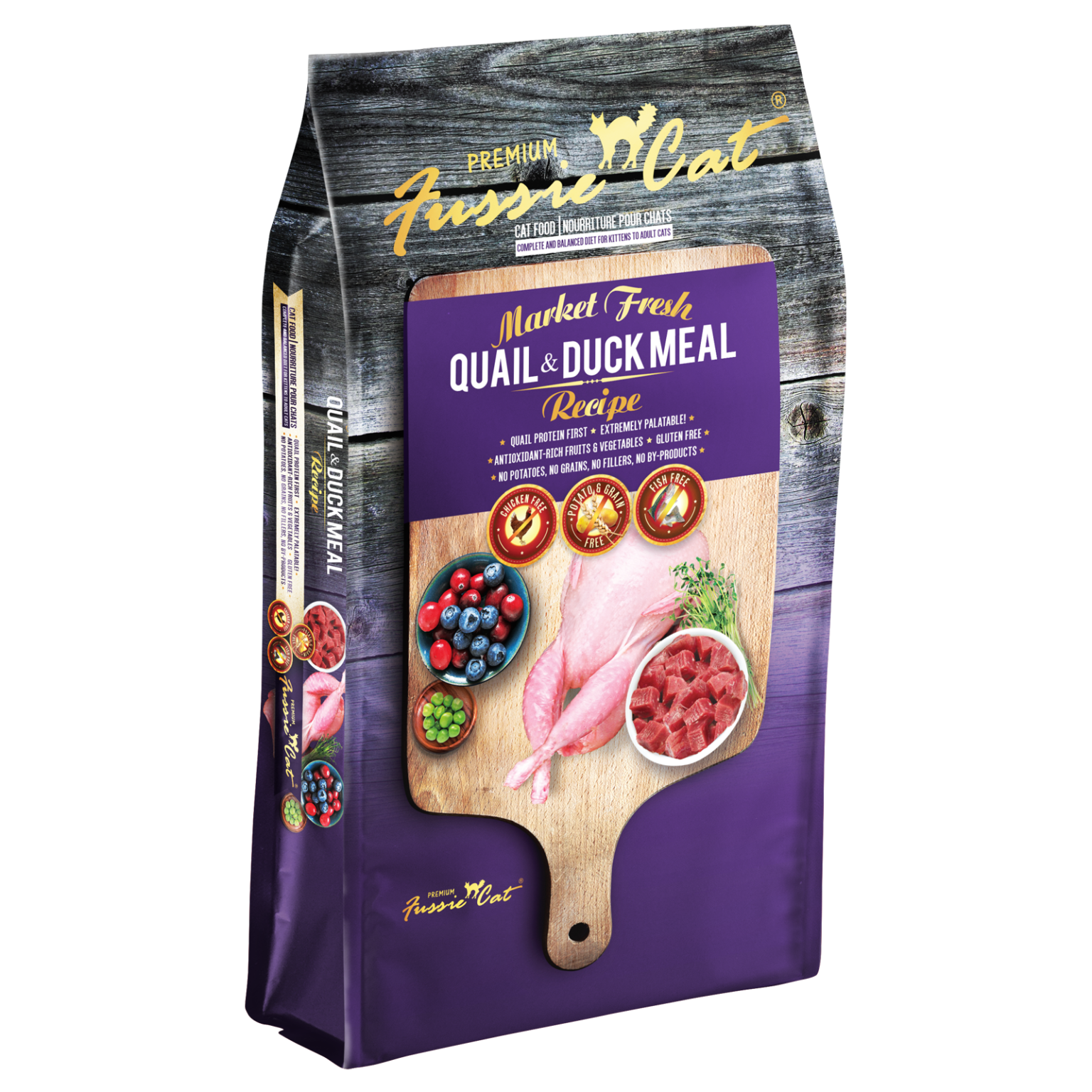 Fussie Cat Fussie Cat Dry Market Fresh Quail & Duck Formula 2lbs Product Image