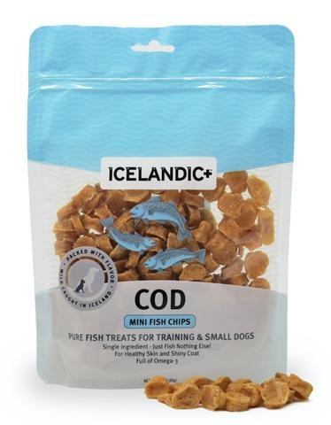 Icelandic Plus Icelandic+ Dog Treat Cod Fish Mini 3oz Product Image