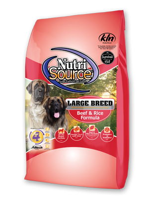 Nutrisource NutriSource Large Breed Beef and Rice 30lbs Product Image