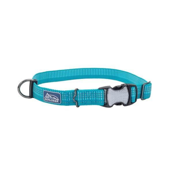 """Coastal Pet Coastal K9 Ocean Teal 1"""" Small/Medium Adjustable Collar Product Image"""