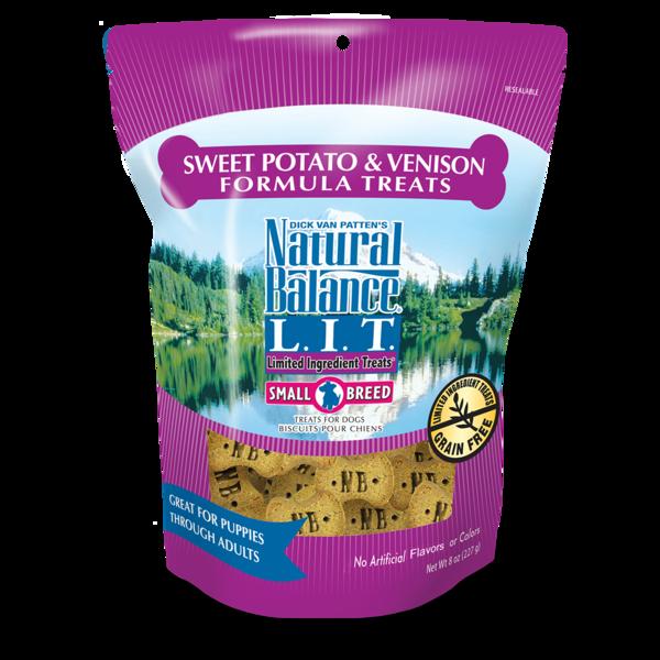 Natural Balance Natural Balance L.I.T. Small Breed Venison & Sweet Potato Treats 8oz Product Image