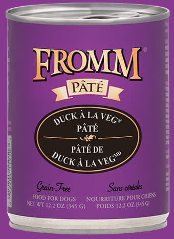 Fromm Family Fromm Grain Free Duck A La Veg Pate' Dog Can 12.2 oz. Product Image