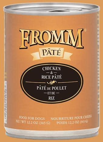 Fromm Fromm Chicken & Rice Pate'  Dog Can 12.2oz Product Image