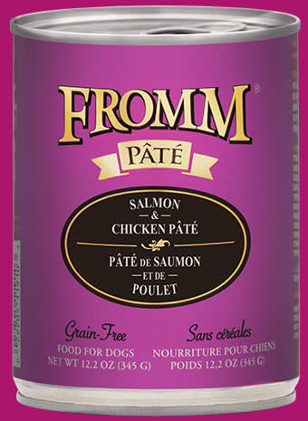 Fromm Fromm Grain Free Salmon & Chicken Pate' Dog Can 12.2oz Product Image