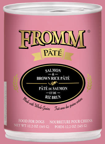 Fromm Fromm Salmon & Brown Rice Pate Dog Can 12.2oz Product Image