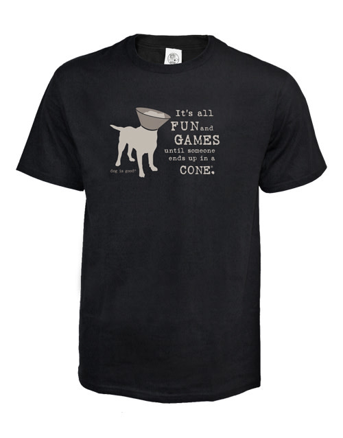Dog is Good It's All Fun and Games Shirt Large Product Image